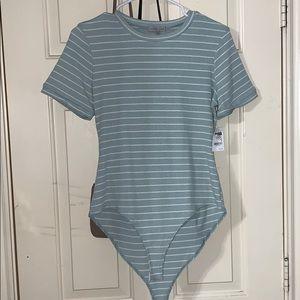 Mint stripped bodysuit